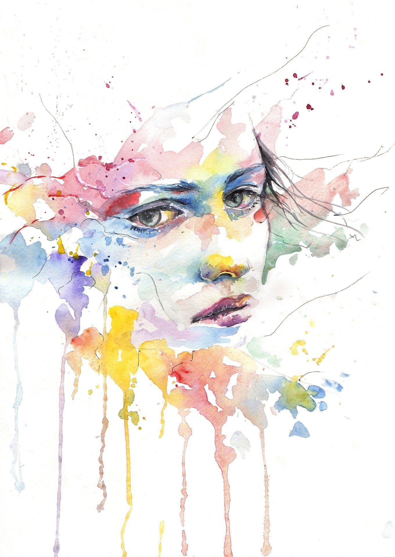 mujer colores